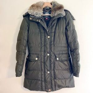 Vince Camuto Olive Green Duck Down Puffer Jacket